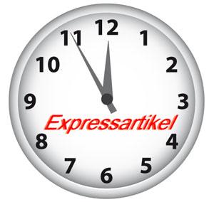 Expressversand - Ware die bis 12:00 bestellt wird geht noch am selben Tag in den Versand.